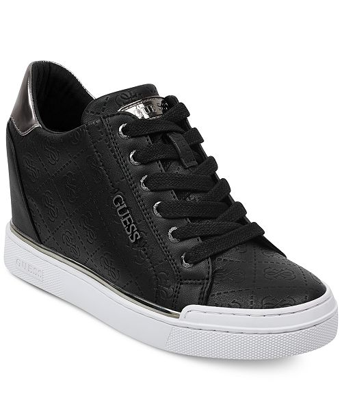 e719276d691 GUESS Women s Flowurs Wedge Sneakers   Reviews - Athletic Shoes ...