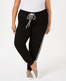 Hybrid Plus Size Varsity-Stripe Sweatpants