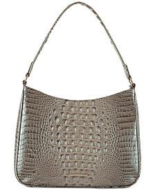 Brahmin Noelle Melbourne Embossed Leather Shoulder Bag