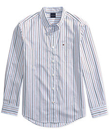 Tommy Hilfiger Adaptive Men's Stripe Custom Fit Shirt with Magnetic Buttons