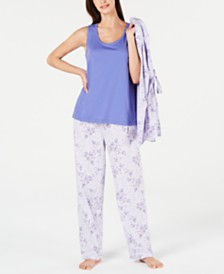 Charter Club 3-Pc. Knit Pajama Set, Created for Macy's