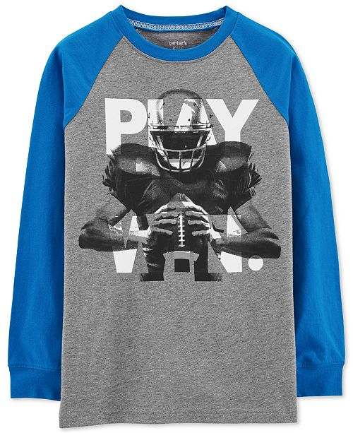 Carter's Little & Big Boys Football Graphic Cotton T-Shirt