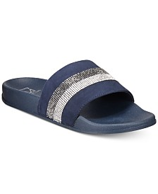 Material Girl Piah Pool Slides, Created for Macys