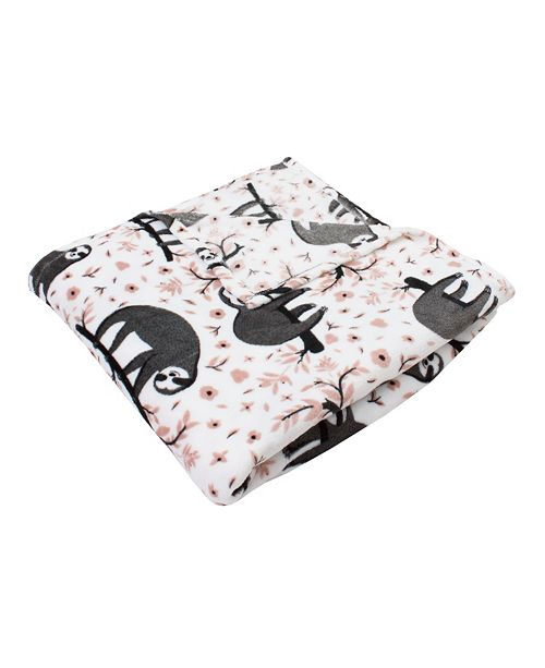 Jimco Lamp & Manufacturing Co Sandro Sloth Printed Flannel Fleece Blanket