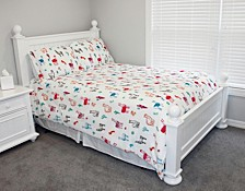 Larry Llama Flannel Fleece 3 Piece Full/Queen Comforter Set
