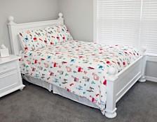 Larry Llama Flannel Fleece 3 Piece Full/Queen Comforter Set