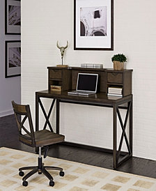 Home Styles Xcel Office Desk with Hutch & Swivel Chair