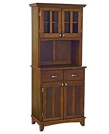 Buffet of Buffet with Wood Top and Hutch