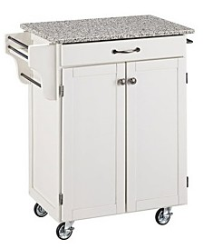Home Styles Cuisine Cart Salt and Pepper Granite Top