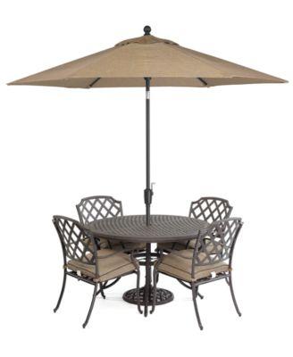 Grove Hill Outdoor Cast Aluminum 5 Pc. Dining Set (48