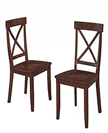 Home Styles Cottage Oak Dining Chairs, Pair
