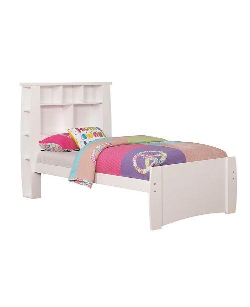Furniture of America Devon Twin Bookcase Platform Bed