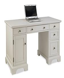 Naples Pedestal Desk White Finish