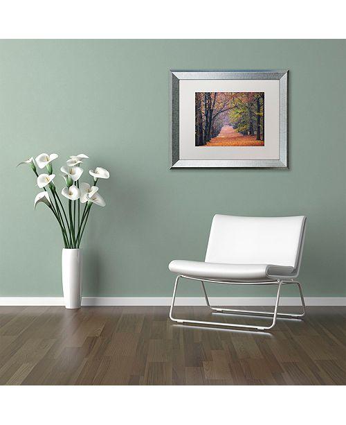 """Trademark Global Cora Niele 'Beech Lane' Matted Framed Art, 16"""" x 20"""""""