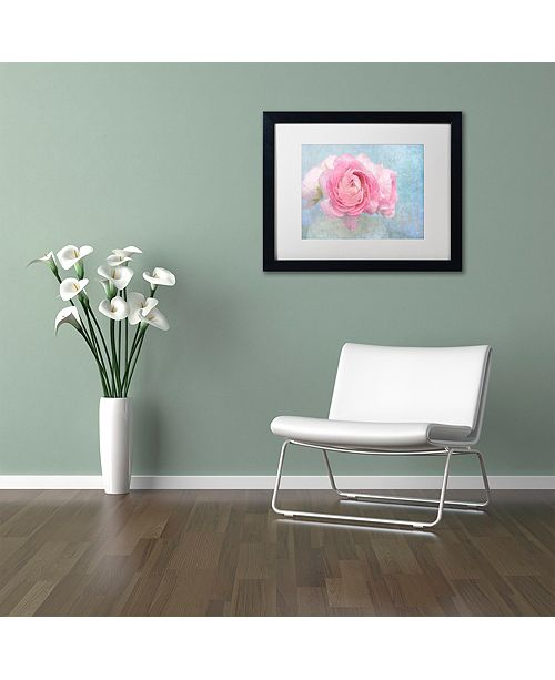 """Trademark Global Cora Niele 'Pink Persian Buttercup Still Life' Matted Framed Art, 16"""" x 20"""""""