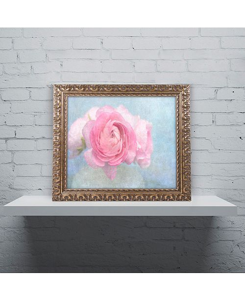 "Trademark Global Cora Niele 'Pink Persian Buttercup Still Life' Ornate Framed Art, 11"" x 14"""