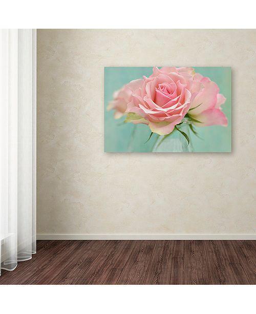 "Trademark Global Cora Niele 'Pink Roses' Canvas Art, 22"" x 32"""