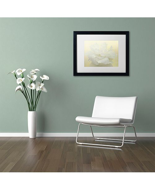 "Trademark Global Cora Niele 'Pure White Peony' Matted Framed Art, 11"" x 14"""