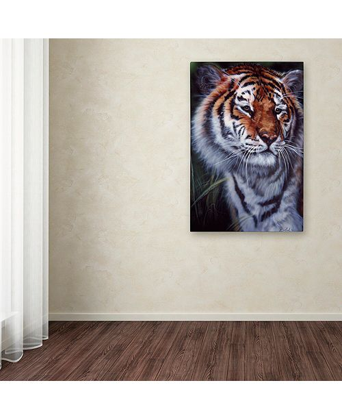 """Trademark Global Jenny Newland 'Tiger In The Midst' Canvas Art, 16"""" x 24"""""""