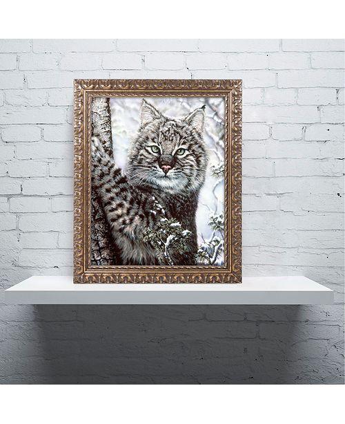 """Trademark Global Jenny Newland 'Alluring Eyes' Ornate Framed Art, 11"""" x 14"""""""