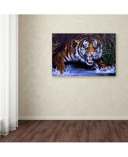 "Trademark Global Jenny Newland 'Surprise' Canvas Art, 12"" x 19"""
