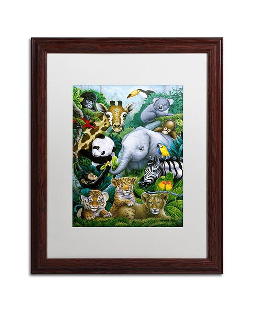 "Trademark Global Jenny Newland 'A Rare Occasion' Matted Framed Art, 16"" x 20"""