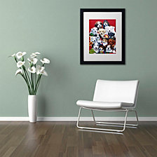 Jenny Newland 'Picture Day' Matted Framed Art