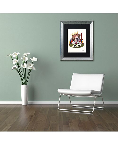 "Trademark Global Jenny Newland 'King Of Spades' Matted Framed Art, 16"" x 20"""