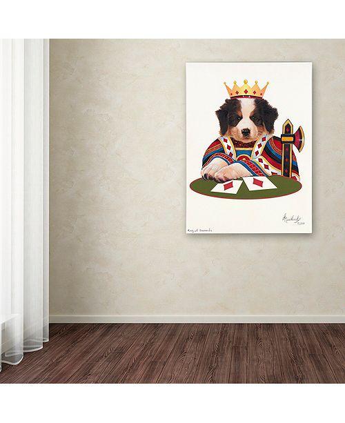 "Trademark Global Jenny Newland 'King Of Diamonds' Canvas Art, 14"" x 19"""