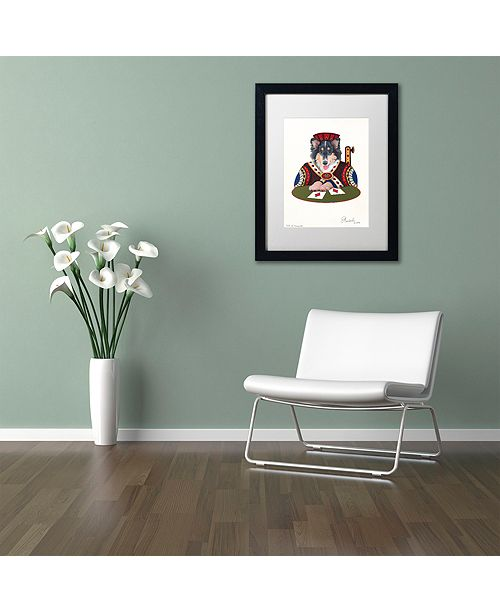 "Trademark Global Jenny Newland 'Jack Of Diamonds' Matted Framed Art, 11"" x 14"""