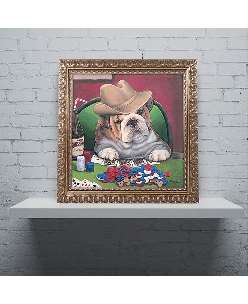 "Trademark Global Jenny Newland 'Beginner's Luck' Ornate Framed Art, 11"" x 11"""