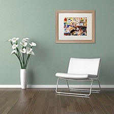 Jenny Newland 'Pet Shop' Matted Framed Art