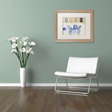 """Nick Bantock 'Blue Angel' Matted Framed Art, 16"""" x 20"""""""
