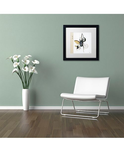"""Trademark Global Nick Bantock 'Morph Insects' Matted Framed Art, 16"""" x 16"""""""