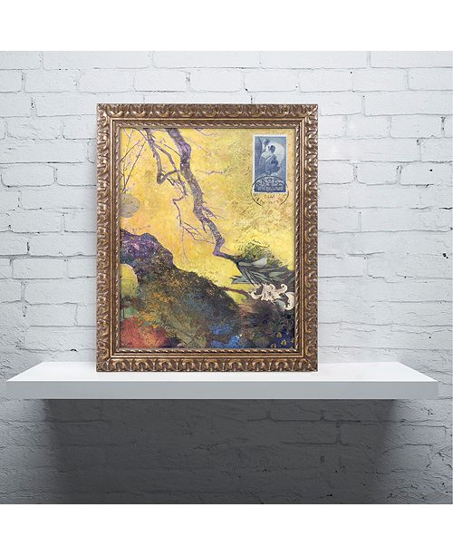 "Trademark Global Nick Bantock '124 Golden Bough' Ornate Framed Art, 16"" x 20"""