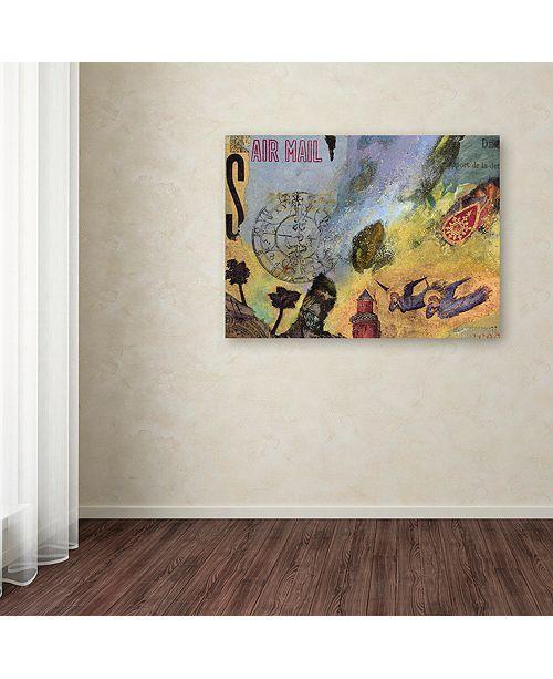 "Trademark Global Nick Bantock 'Air Mail' Canvas Art, 14"" x 19"""