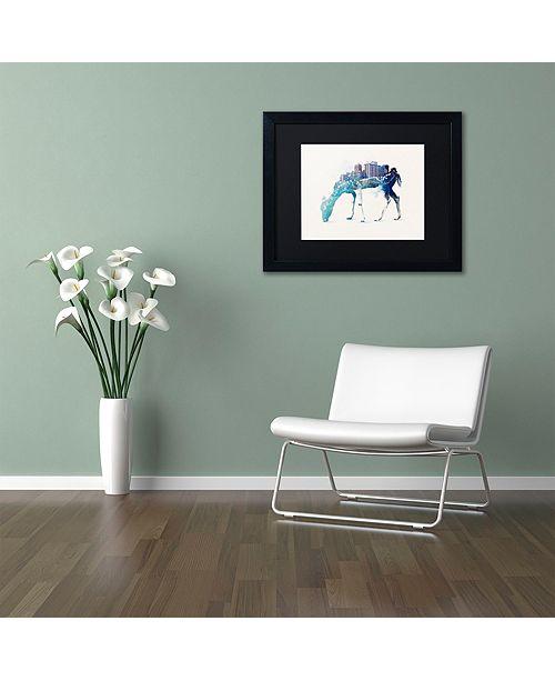"""Trademark Global Robert Farkas 'City Deer' Matted Framed Art, 11"""" x 14"""""""