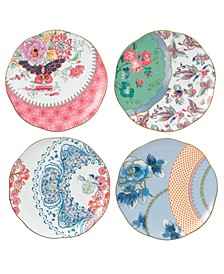 Set of 4 Butterfly Bloom Tea Plates