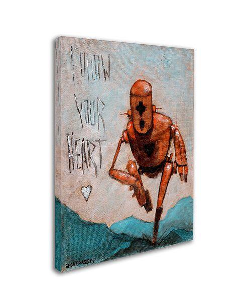 """Trademark Global Craig Snodgrass 'Follow Your Heart' Canvas Art, 18"""" x 24"""""""