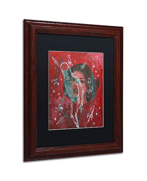 """Trademark Global Craig Snodgrass 'Blast-Off' Matted Framed Art, 11"""" x 14"""""""