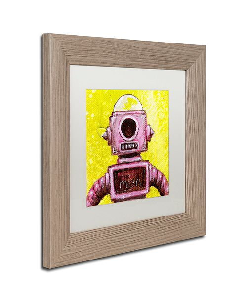 """Trademark Global Craig Snodgrass 'Mehbot' Matted Framed Art, 11"""" x 11"""""""