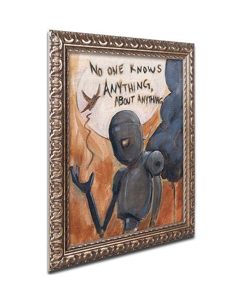 "Trademark Global Craig Snodgrass 'No One Knows' Ornate Framed Art, 16"" x 20"""
