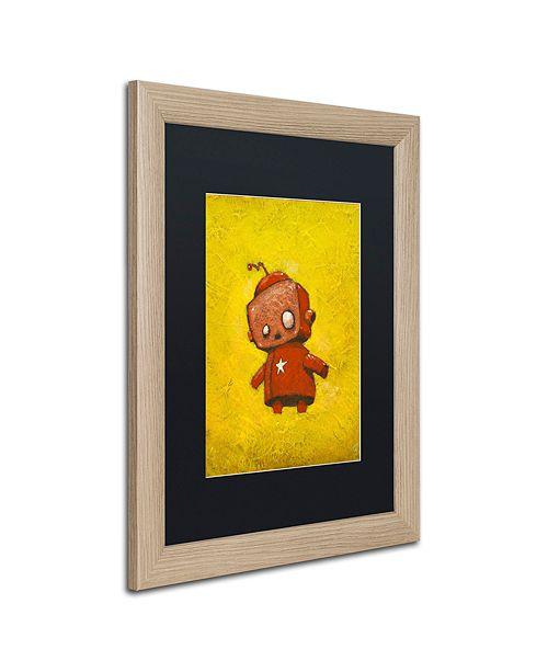 """Trademark Global Craig Snodgrass 'Red Robot Star' Matted Framed Art, 16"""" x 20"""""""