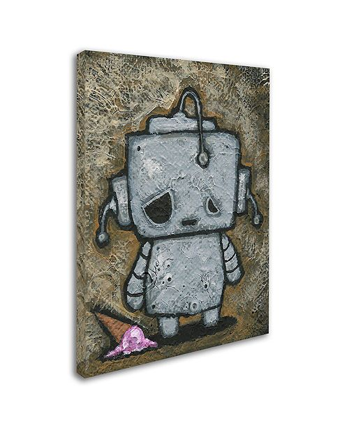 "Trademark Global Craig Snodgrass 'Weebot-Icecream' Canvas Art, 18"" x 24"""