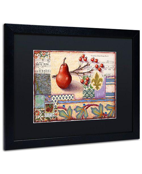 "Trademark Global Rachel Paxton 'Florentine Pear' Matted Framed Art, 16"" x 20"""