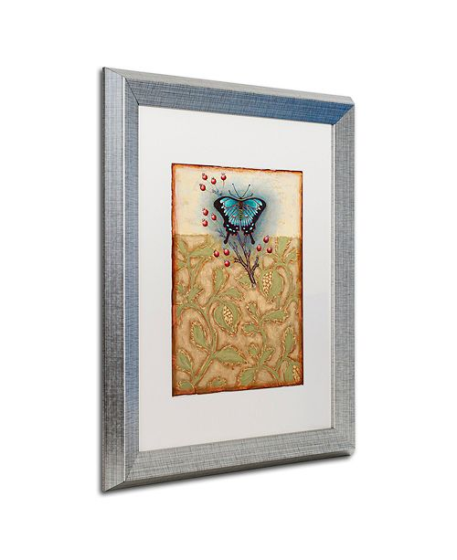 "Trademark Global Rachel Paxton 'Salt Meadow Butterfly' Matted Framed Art, 16"" x 20"""