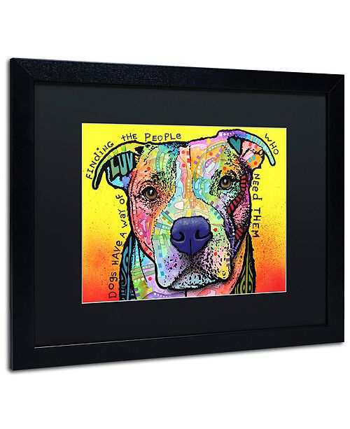 """Trademark Global Dean Russo 'Dogs Have A Way' Matted Framed Art, 16"""" x 20"""""""