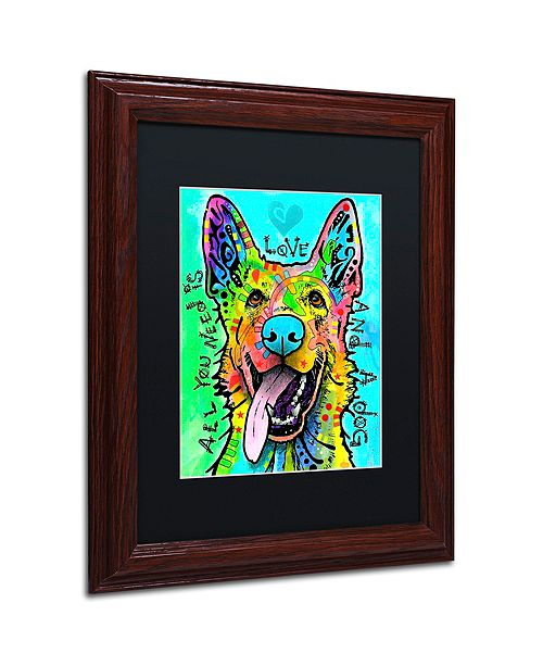 """Trademark Global Dean Russo 'Love And A Dog' Matted Framed Art, 11"""" x 14"""""""
