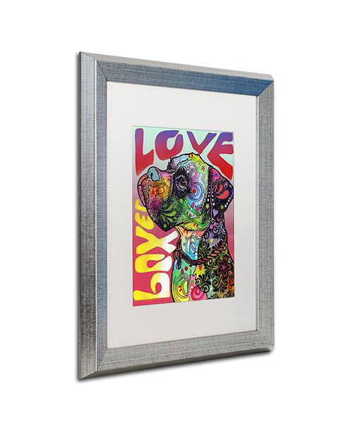 """Trademark Global Dean Russo 'Boxer Luv' Matted Framed Art, 16"""" x 20"""""""