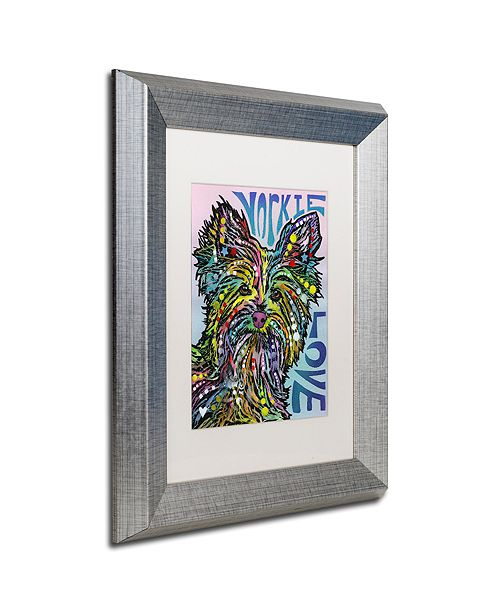 "Trademark Global Dean Russo 'Yorkie Luv' Matted Framed Art, 11"" x 14"""
